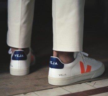 Sneaker Herren Campo Chromefree Extra White Orange Fluo Cobalt