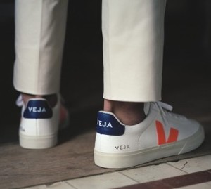 Sneaker Herren - Campo Chromefree - Extra White Orange Fluo Cobalt - Veja