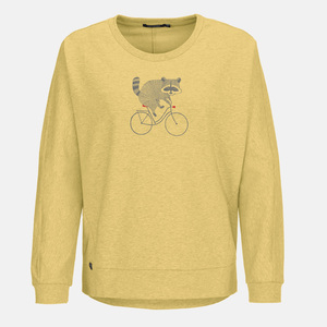 Sweatshirt Slack Bike Raccoon - GreenBomb