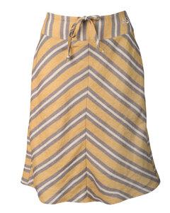 Streifen-Rock mit Seitentaschen aus Leinen 'Stripe Skirt' - Alma & Lovis