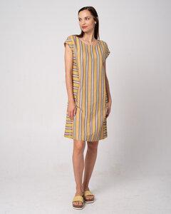 Stripe Dress - Sommer Leinen Kleid - Alma & Lovis