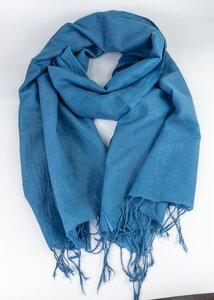 Handgewebtes Tuch aus Indien in Blau - Green Size