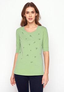 T-Shirt Deep Plants Sweet Blossoms All Over - GreenBomb
