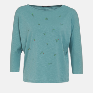 Longsleeve Smile Plants Sweet Blossoms All Over - GreenBomb