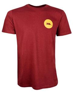 T Shirt Männer aus Biobaumwolle, Fair, Vegan, Bordeaux  - MAREGAARD