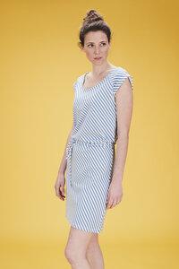 Lily Balou Frauenkleid diagonal stripes - Lily Balou