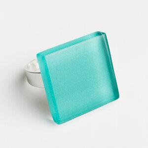 Geometrischer Statement Ring aus Glas | PUREFORM - ALEXASCHA