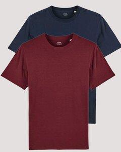 2er Pack Herren schweres Bio T-Shirt Männer, Premium Basic Shirt. - YTWOO