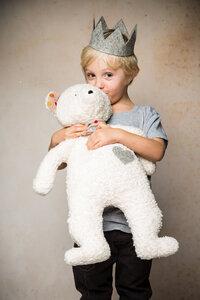 Efie Spieltier Teddy mit Krone, Made in Germany - Efie