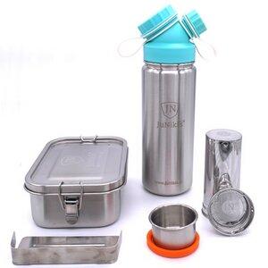 Frühlingsedition | JuNiki´s® Lunchbox/Trinkflasche/Teefilter türkis - JN JuNiki's