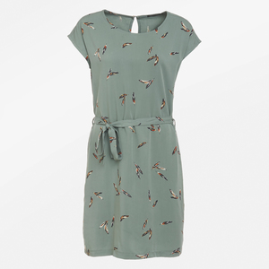 Sommer Frauen Kleid feathers olive - GreenBomb