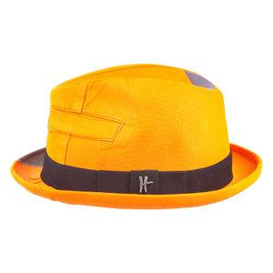 "Player-Hut ""Bürgermeister"" aus Arbeitskleidung - orange - ReHats Berlin"