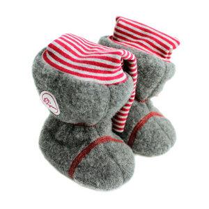Baby Puschen Trage Stiefel aus Merino Wollfleece kbT, gefüttert - grims