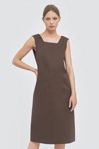 Kleid mit eckigem Ausschnitt - Mila.Vert