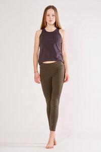 Yoga Leggings aus Bio-Baumwolle mit hohem Bund - YOIQI