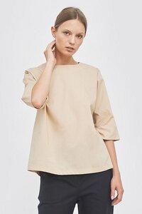 Bluse mit rundem Ausschnitt in A-Linie - Mila.Vert