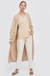 Lange Hose mit aufgesetzten Taschen - Mila.Vert