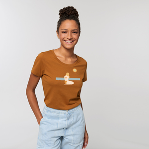 Reine Bio Baumwolle - T-Shirt  tailliert /  Still Moment - Kultgut