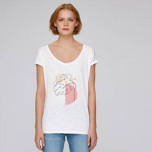 Reine Bio Baumwolle- Oversize T-Shirt fein & leicht / Spirit Nature - Kultgut
