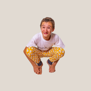 Slim-Fit Pyjamahose Möwe [vegan] mit Taschen - pajama-day