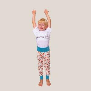 Slim-Fit Pyjamahose Fuchs & Igel [vegan] mit Taschen - pajama-day
