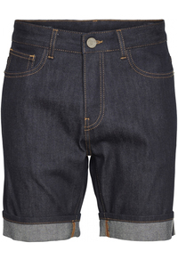 OAK raw blue selvedge denim shorts - KnowledgeCotton Apparel