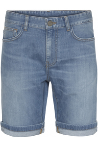 OAK light blue selvedge denim shorts - Knowledge Cotton Apparel