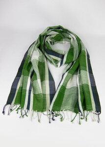 Handgewebtes Tuch aus Indien - Green Size