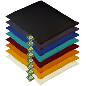 Meditations-Knieschoner Lotus Design - Bio-Buchweizenschalen oder Baumwolle - Lotus Design
