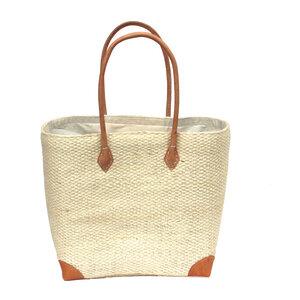 Handtasche SIMSAL Unicolor mit Leder Griffen - frosch und rabe