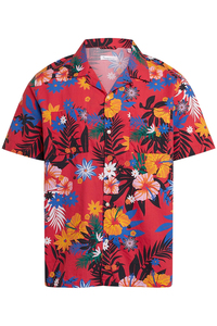WAVE SS flower shirt - Knowledge Cotton Apparel