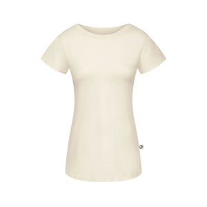 Natural Grown T-Shirt Hanf Damen Offwhite - bleed