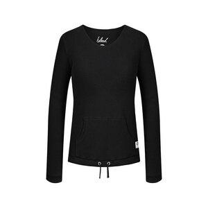 Waffleknit Sweater Damen Schwarz - bleed