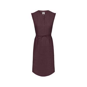 Lyocell (TENCEL) Linen Kleid Damen Dunkellila - bleed