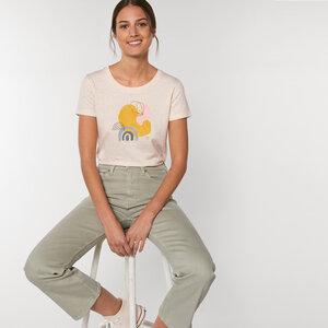 Reine Bio Baumwolle - T-Shirt  tailliert /  Happy Day - Kultgut