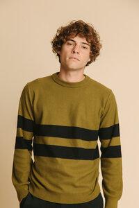 Olive Green Moa Knitted Sweater - thinking mu