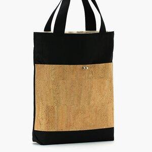 Shopper // Herrentasche // vegan // Canvas // Kork - Belaine Manufaktur
