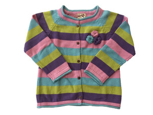 Baby Strickjacke gestreift GOTS - Kite