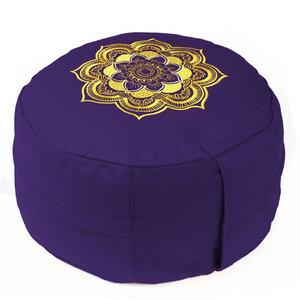 Meditationskissen CLASSIC Mandala Lotus Design - Bio-Buchweizenschalen - Lotus Design