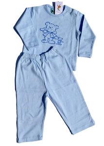 Blauer Jungenschlafanzug mit Bärchenmotiv - Preciosa