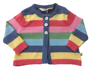 Multistripe Swing Cardigan - Frugi
