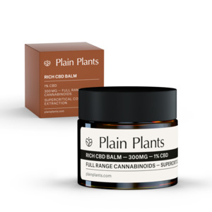 Plain Plants – Rich CBD Balm – 1% (300mg) CBD - Plain Plants