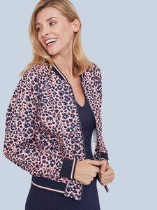 Staying Cool Bomber Jacke – Leopard Vintage Pink - Mademoiselle YéYé
