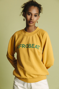 Sweatshirt Damen - Afro Beat Raglan - thinking mu