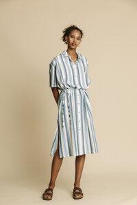 Kleid Damen - Blue Stripes Mandy - thinking mu
