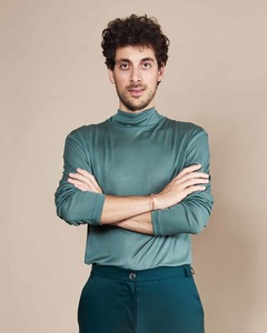 Rollkragen Pullover MIO FOR MEN dark mint - JAN N JUNE