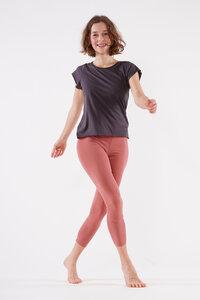 Lässiges Shirt mit kurzem Arm aus biologischer Baumwolle - YOIQI