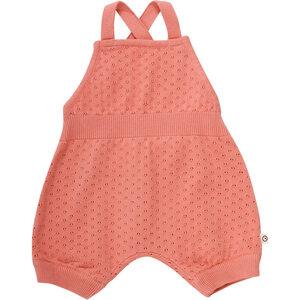 Baby Strick Romper * Dot peach/ navy * GOTS | Müsli - Müsli by Green Cotton