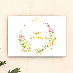 Geburtstagskarte // Happy Birthday - anabellstellmacher