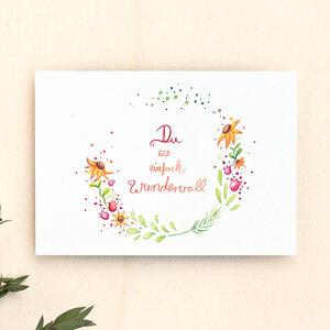 Postkarte // Du bist wundervoll - anabellstellmacher